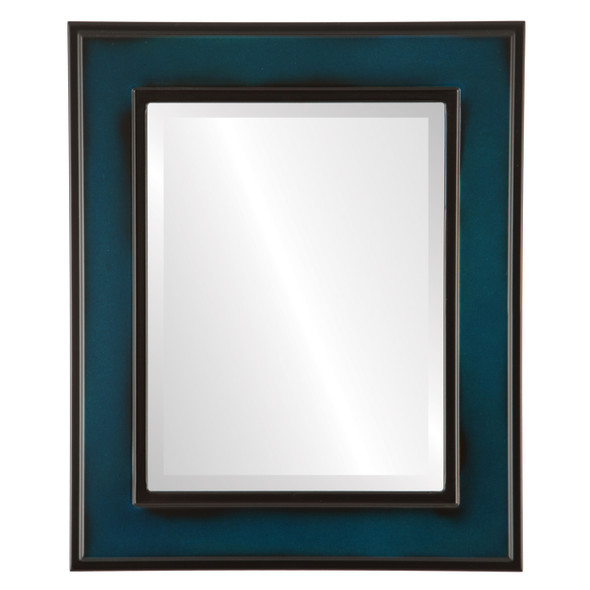 Beveled Mirror - Montreal Rectangle Frame - Royal Blue