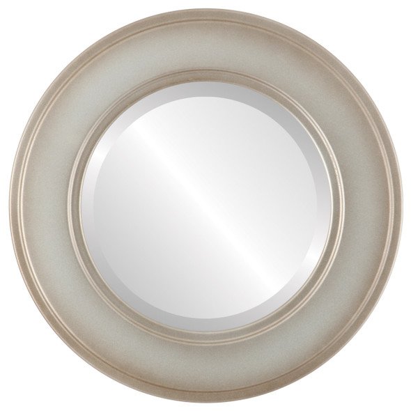 Beveled Mirror - Montreal Round Frame - Silver Shade
