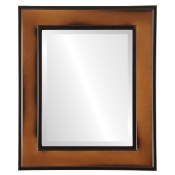 Beveled Mirror - Montreal Rectangle Frame - Walnut