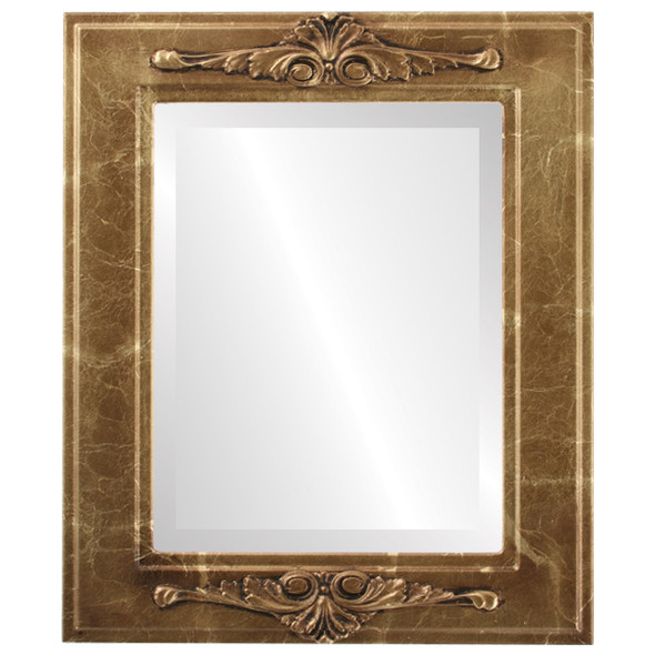 Beveled Mirror - Ramino Rectangle Frame - Champagne Gold