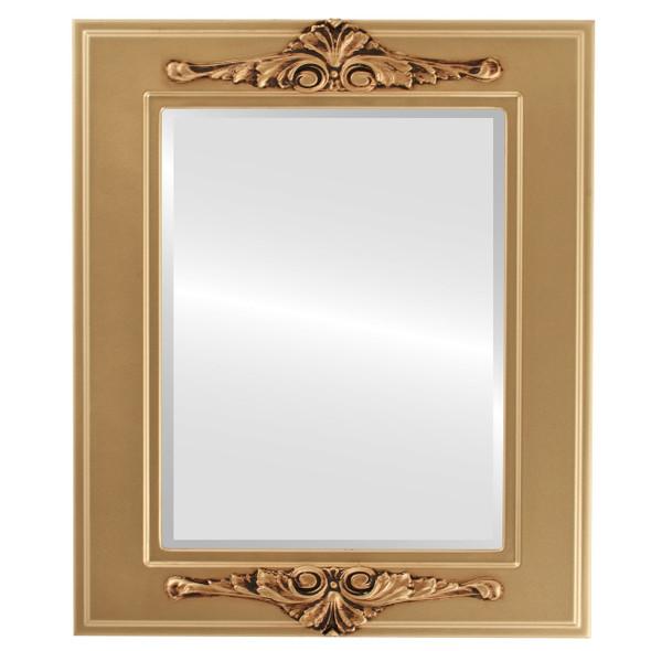 Beveled Mirror - Ramino Rectangle Frame - Desert Gold