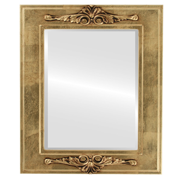 Beveled Mirror - Ramino Rectangle Frame - Gold Leaf