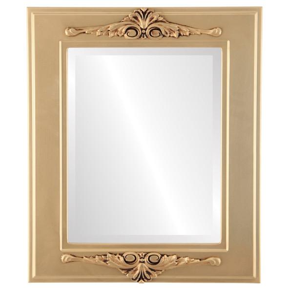 Beveled Mirror - Ramino Rectangle Frame - Gold Spray