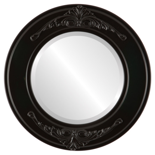 Beveled Mirror - Ramino Round Frame - Hunter Green