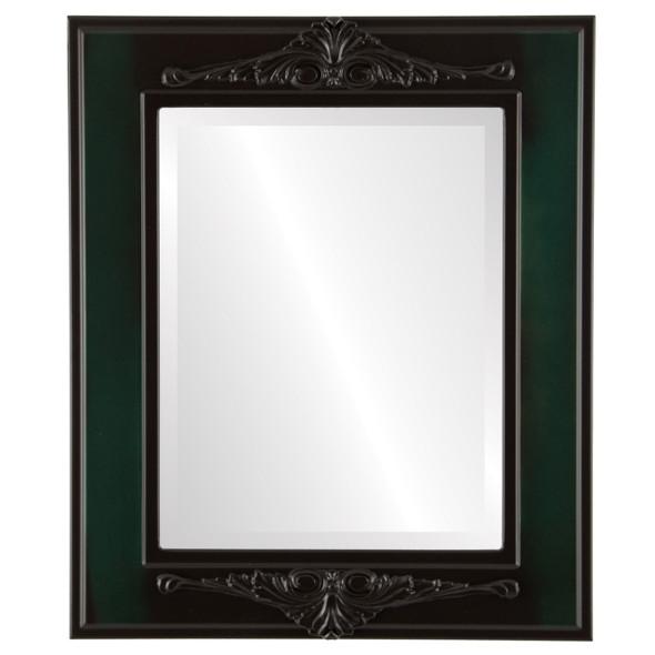 Beveled Mirror - Ramino Rectangle Frame - Hunter Green