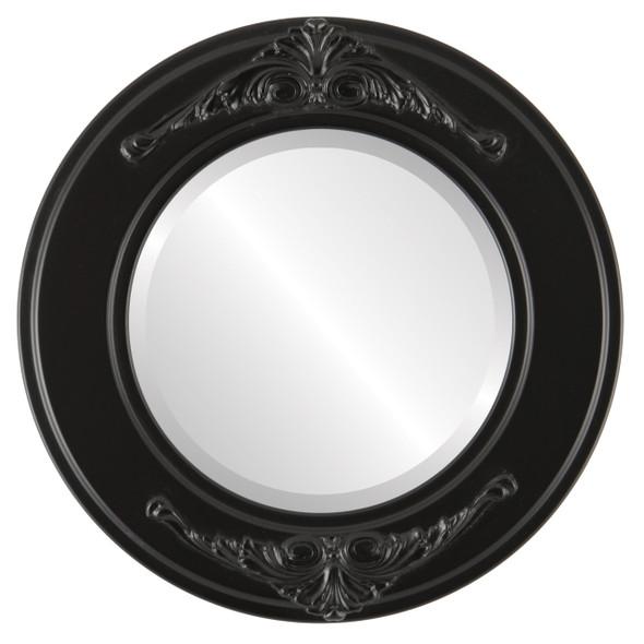 Beveled Mirror - Ramino Round Frame - Matte Black