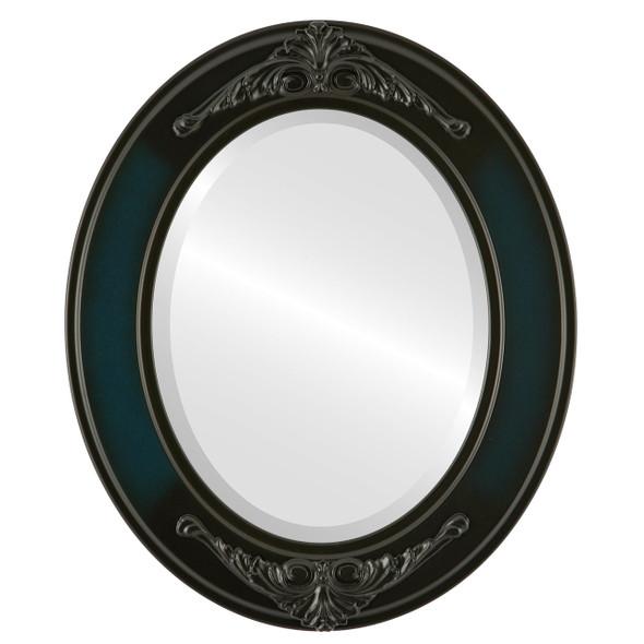 Beveled Mirror - Ramino Oval Frame - Royal Blue