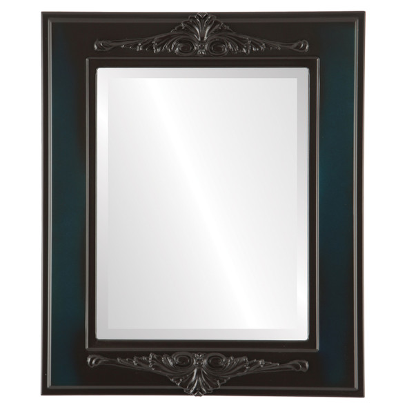 Beveled Mirror - Ramino Rectangle Frame - Royal Blue