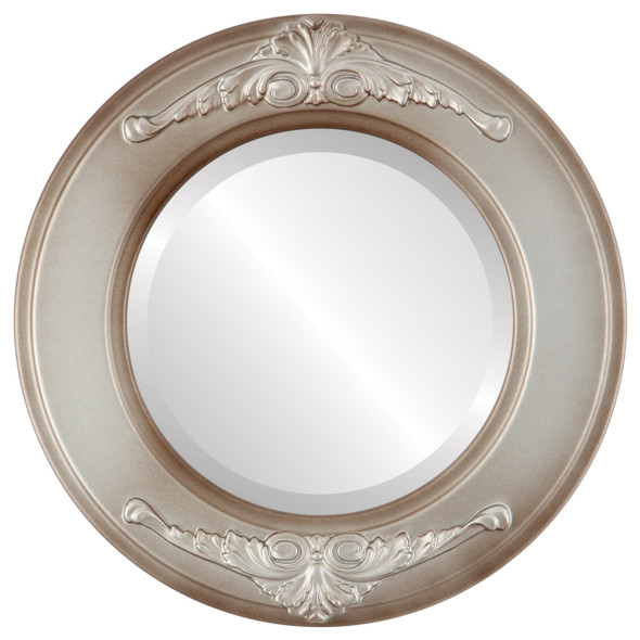 Beveled Mirror - Ramino Round Frame - Silver Shade
