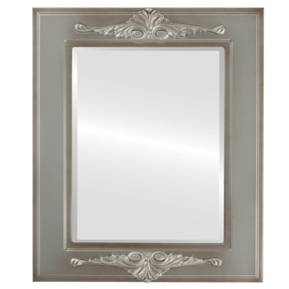 Beveled Mirror - Ramino Rectangle Frame - Silver Shade