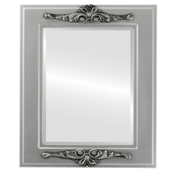 Beveled Mirror - Ramino Rectangle Frame - Silver Spray