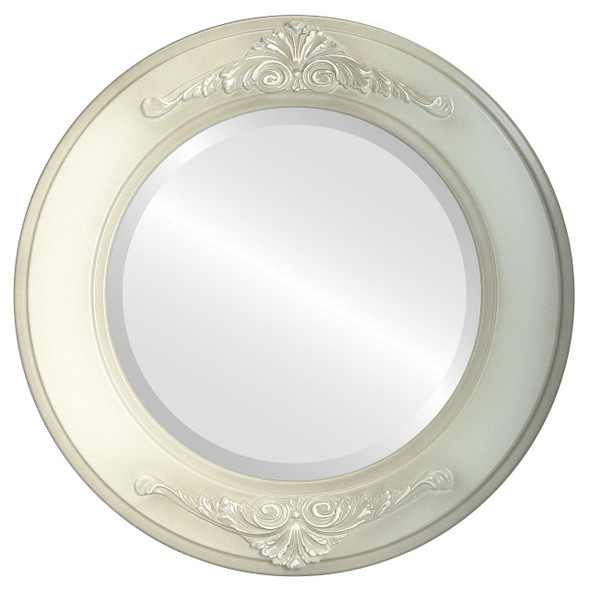 Beveled Mirror - Ramino Round Frame - Taupe