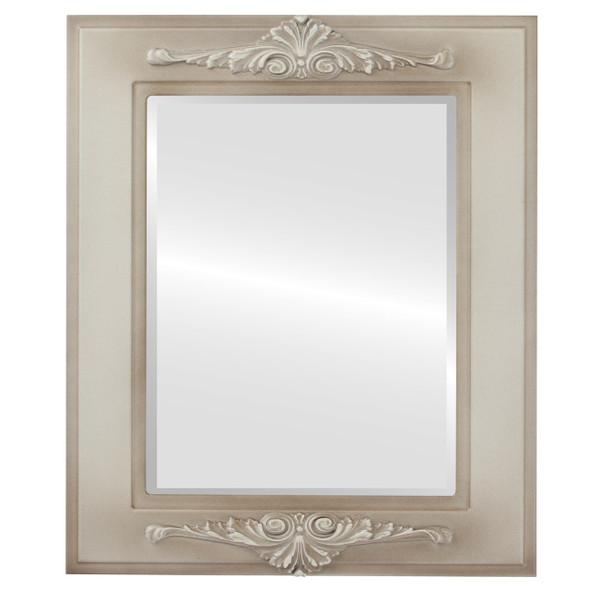 Beveled Mirror - Ramino Rectangle Frame - Taupe