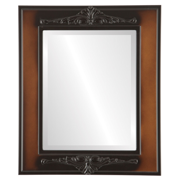 Beveled Mirror - Ramino Rectangle Frame - Walnut