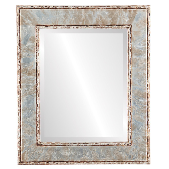 Beveled Mirror - Paris Rectangle Frame - Champagne Silver