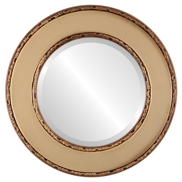 Beveled Mirror - Paris Round Frame - Desert Gold