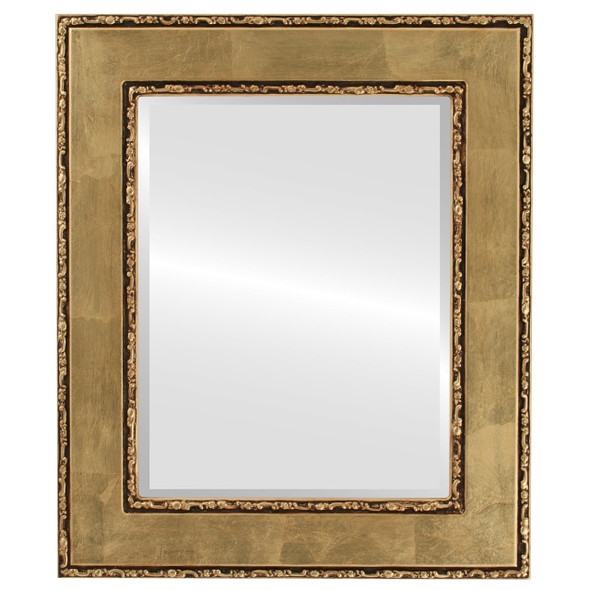 Beveled Mirror - Paris Rectangle Frame - Gold Leaf