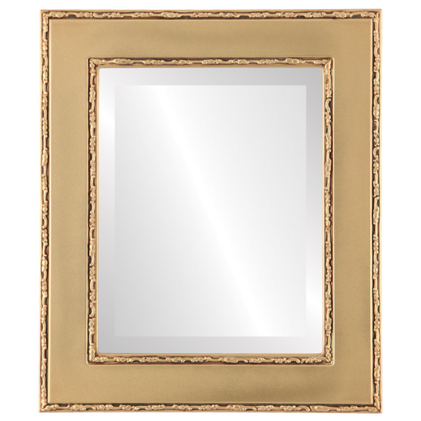 Beveled Mirror - Paris Rectangle Frame - Gold Spray