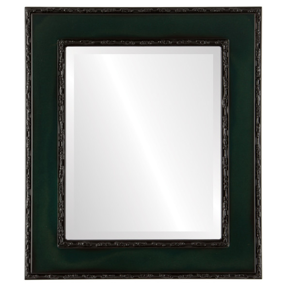 Beveled Mirror - Paris Rectangle Frame - Hunter Green