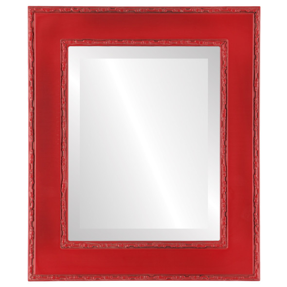 Beveled Mirror - Paris Rectangle Frame - Holiday Red