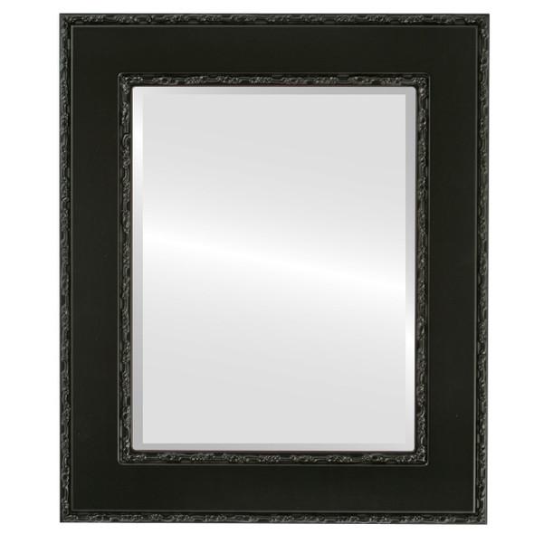 Beveled Mirror - Paris Rectangle Frame - Matte Black