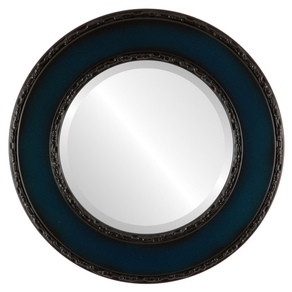 Beveled Mirror - Paris Round Frame - Royal Blue