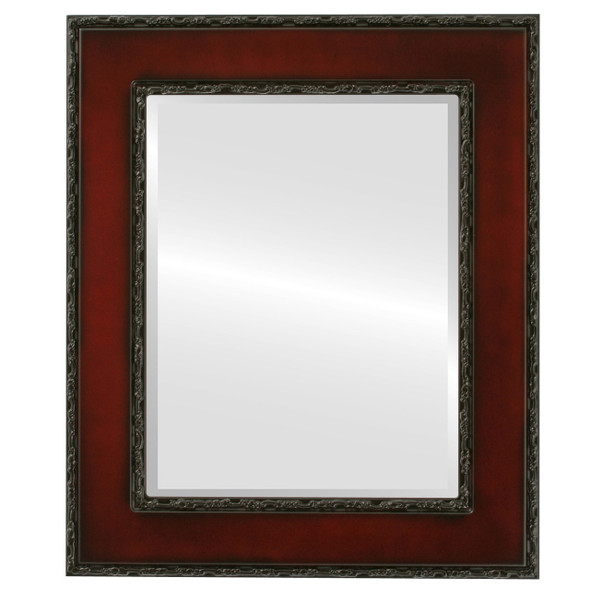 Beveled Mirror - Paris Rectangle Frame - Rosewood