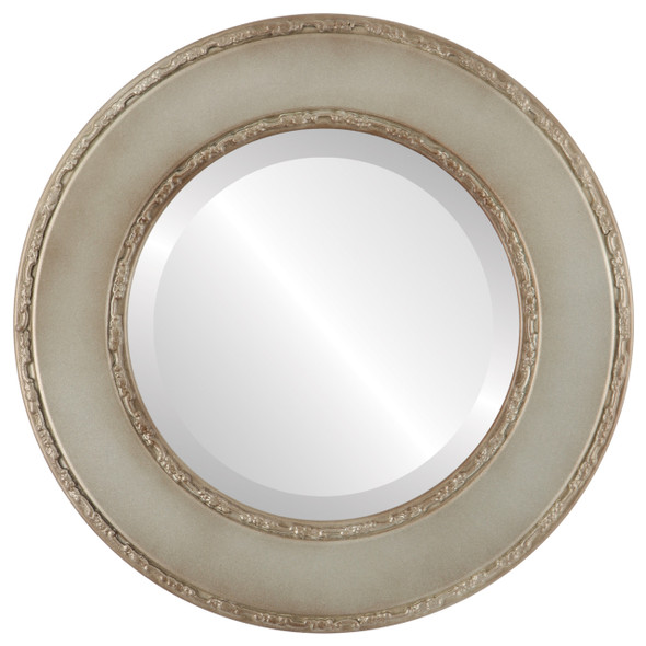 Beveled Mirror - Paris Round Frame - Silver Shade