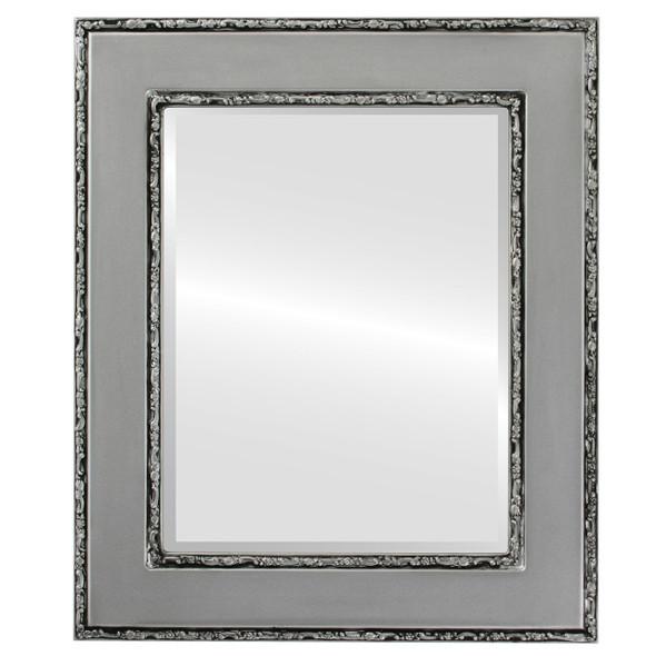 Beveled Mirror - Paris Rectangle Frame - Silver Spray