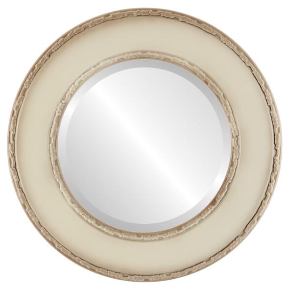 Beveled Mirror - Paris Round Frame - Taupe