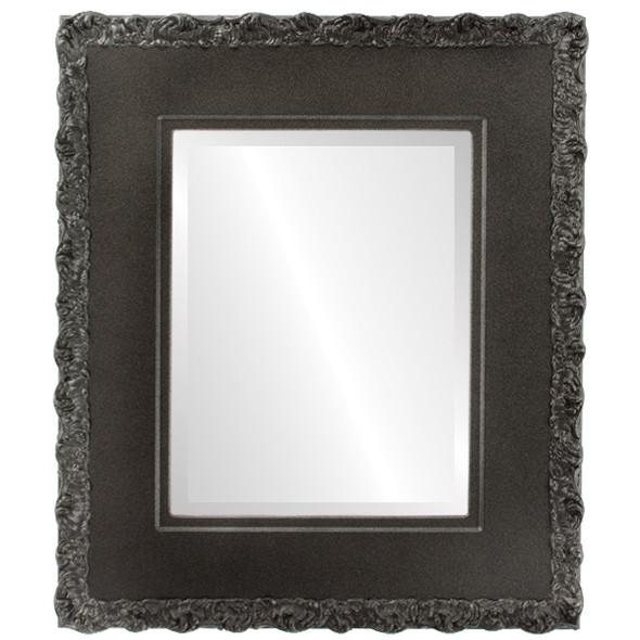 Beveled Mirror - Williamsburg Rectangle Frame - Black Silver