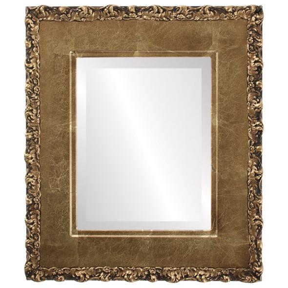 Beveled Mirror - Williamsburg Rectangle Frame - Champagne Gold