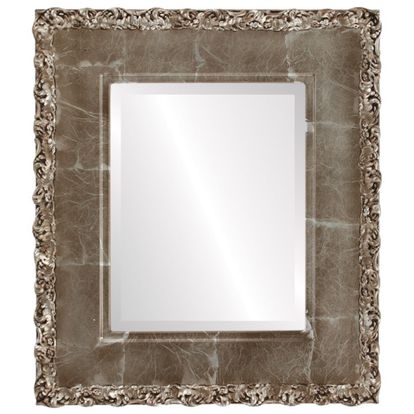 Beveled Mirror - Williamsburg Rectangle Frame - Champagne Silver