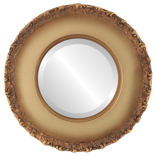Beveled Mirror - Williamsburg Round Frame - Desert Gold