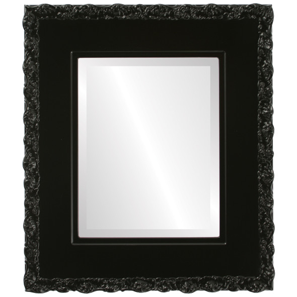 Beveled Mirror - Williamsburg Rectangle Frame - Gloss Black