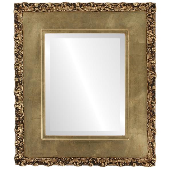 Beveled Mirror - Williamsburg Rectangle Frame - Gold Leaf
