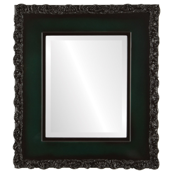 Beveled Mirror - Williamsburg Rectangle Frame - Hunter Green
