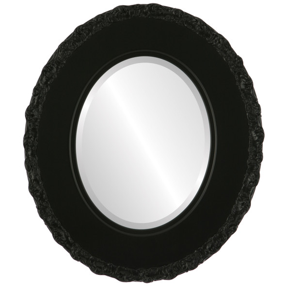 Beveled Mirror - Williamsburg Oval Frame - Matte Black