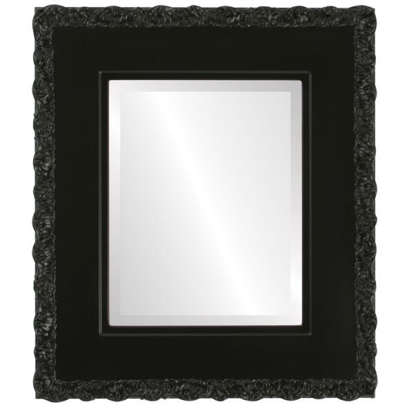 Beveled Mirror - Williamsburg Rectangle Frame - Matte Black