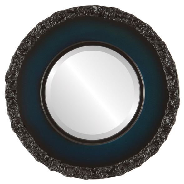 Beveled Mirror - Williamsburg Round Frame - Royal Blue