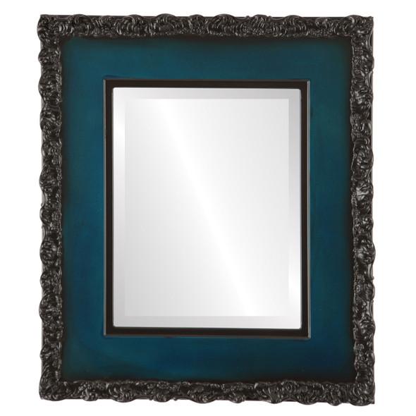 Beveled Mirror - Williamsburg Rectangle Frame - Royal Blue