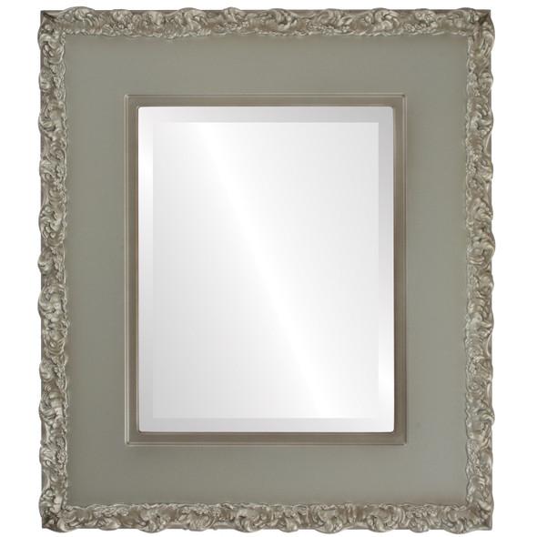 Beveled Mirror - Williamsburg Rectangle Frame - Silver Shade