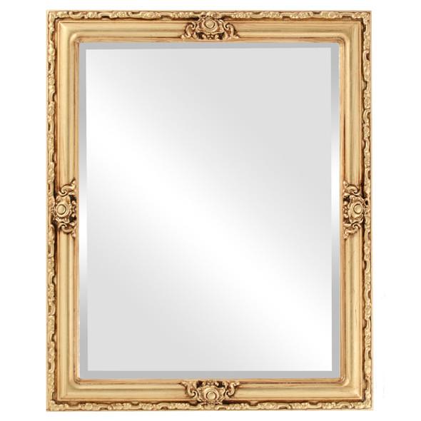 Beveled Mirror - Jefferson Rectangle Frame - Atnique Gold Leaf