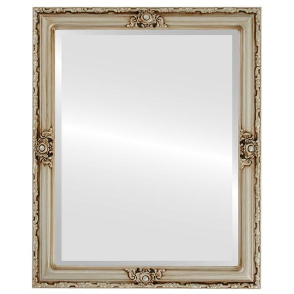 Beveled Mirror - Jefferson Rectangle Frame - Silver
