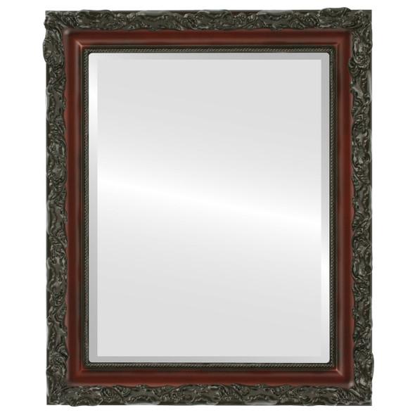 Beveled Mirror - Rome Rectangle Frame - Rosewood