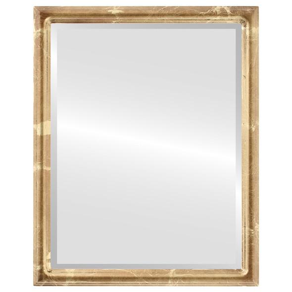 Beveled Mirror - Saratoga Rectangle Frame - Champagne Gold