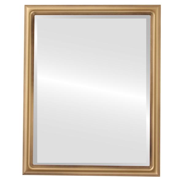 Beveled Mirror - Saratoga Rectangle Frame - Desert Gold
