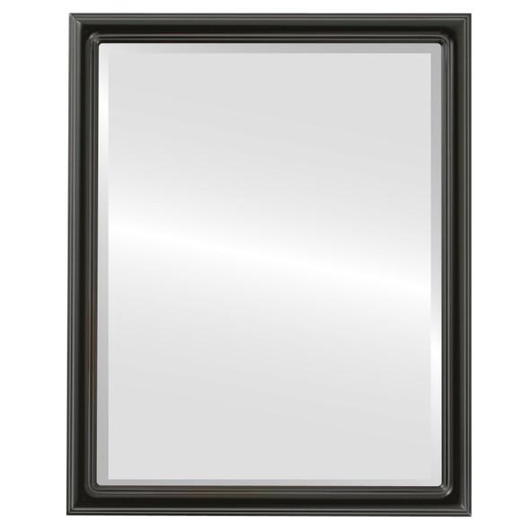 Beveled Mirror - Saratoga Rectangle Frame - Gloss Black