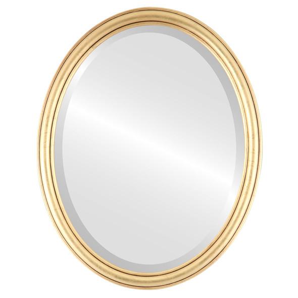 Beveled Mirror - Saratoga Oval Frame - Gold Leaf