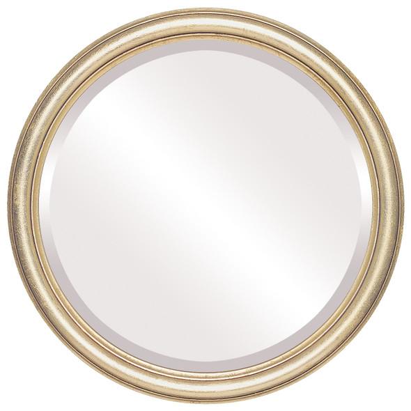 Beveled Mirror - Saratoga Round Frame - Gold Leaf
